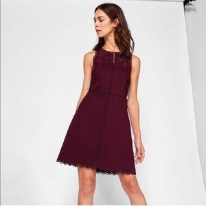 NWT Ted Baker embroidered scalloped dress